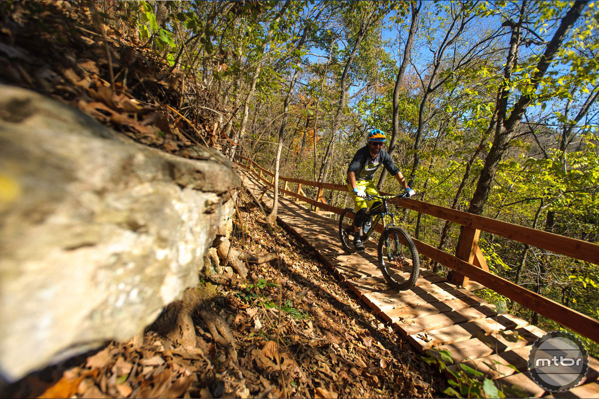 Some serious work (and capital) went in to construction of these trails. Photo courtesy IMBA/Liz Chrisman