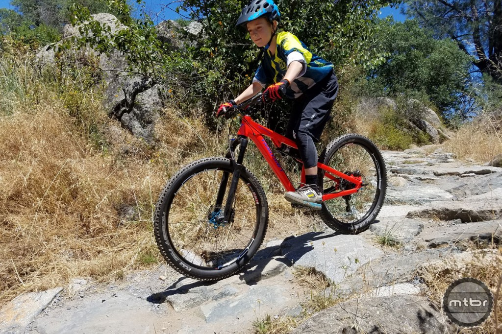 There's still room for 26-inch wheels on children's mountain bikes, like the Trailcraft Maxwell 26.