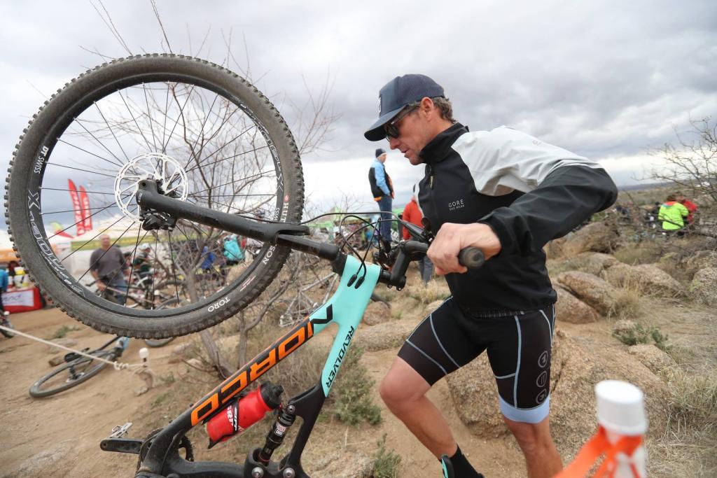 Lance armstrong riding bike
