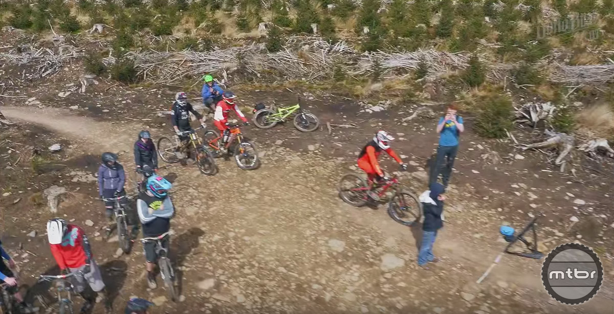A group of talented UK riders descended on Bike Park Wales with Soho Bikes to test a variety of different wheel and tire sizes on a technical test track.