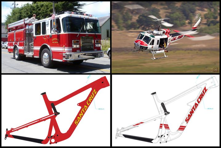 The rescue vehicles that dominated the news during the calamity are the inspiration for these bikes.