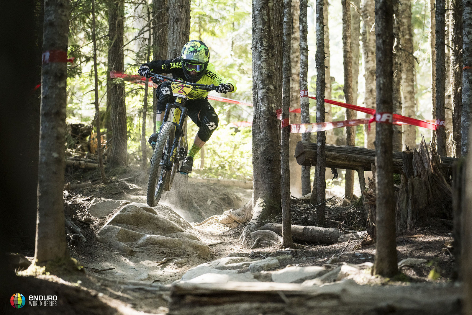 Ravanel had a mechanical with her drivetrain and a flat on the second stage, yet battled on to take the win. Photo courtesy Enduro World Series