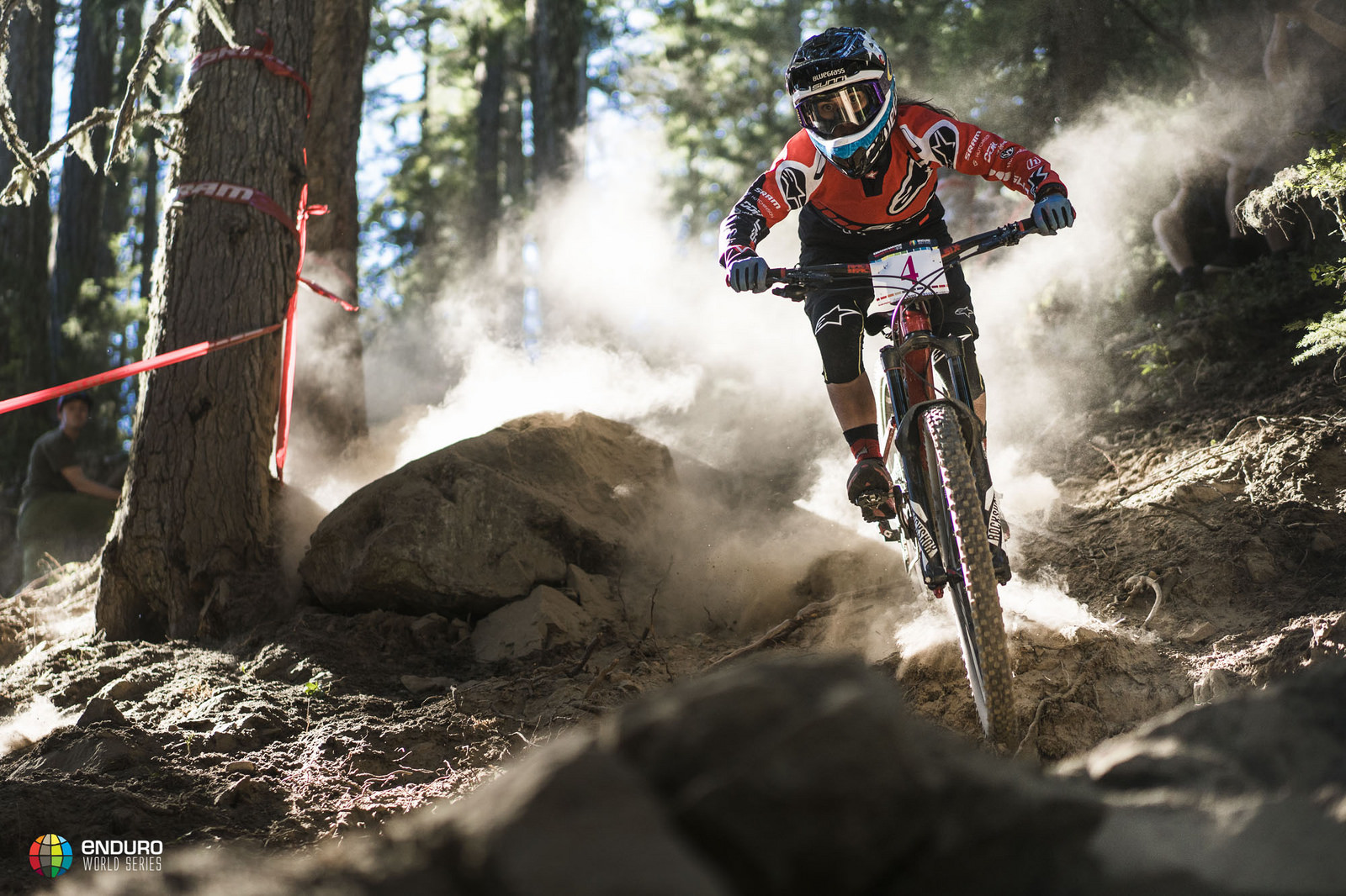 Isabeau Courdurier had the lead coming into the final stage but lost out to Ravanel. Photo courtesy Enduro World Series