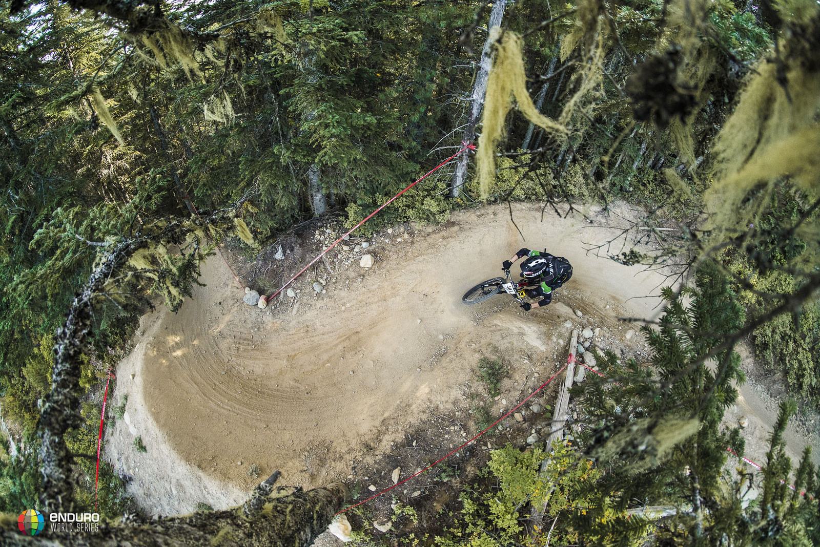 Michael Broderick maintains the masters series overall lead with his second place. Photo courtesy Enduro World Series