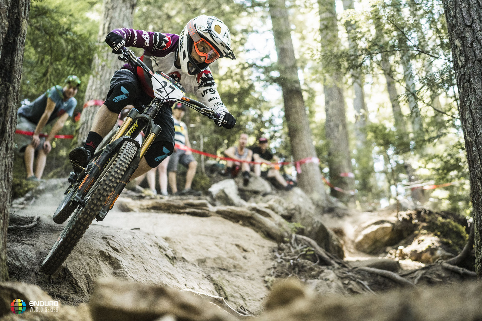 Local rider Jesse Melamed smashed stage 2 and nearly won the event. Photo courtesy Enduro World Series