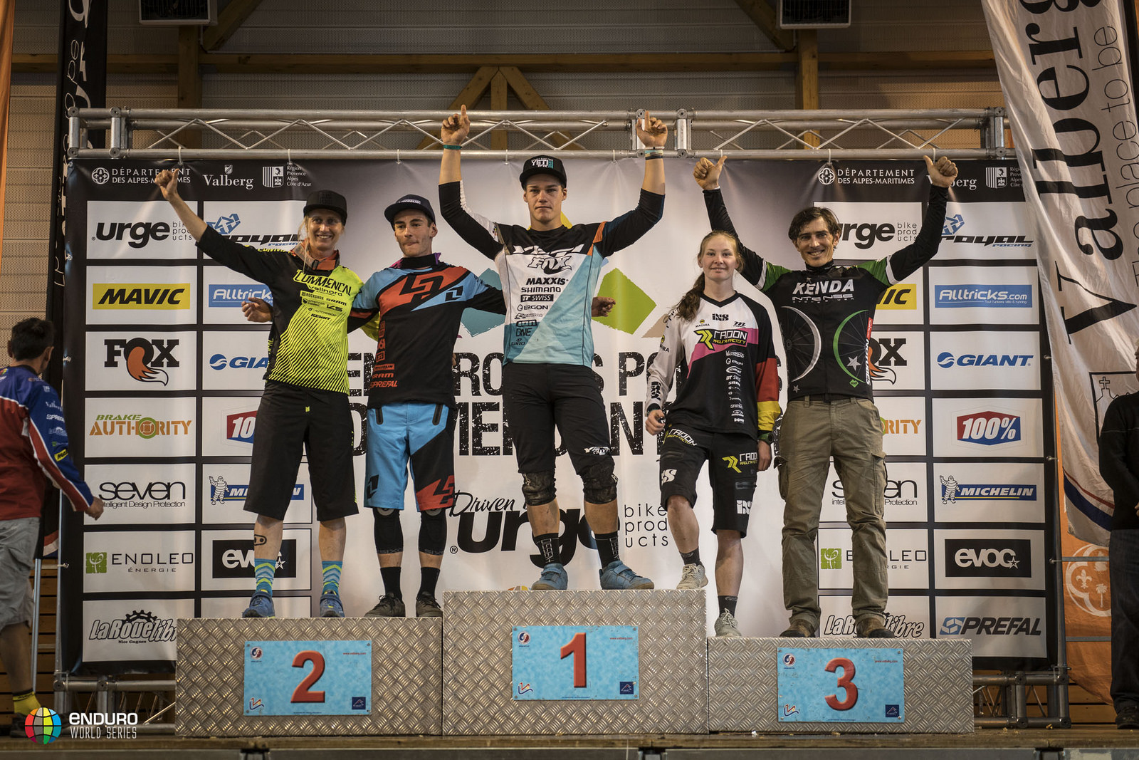 The overall series leaders, including Yeti's Richie Rude.