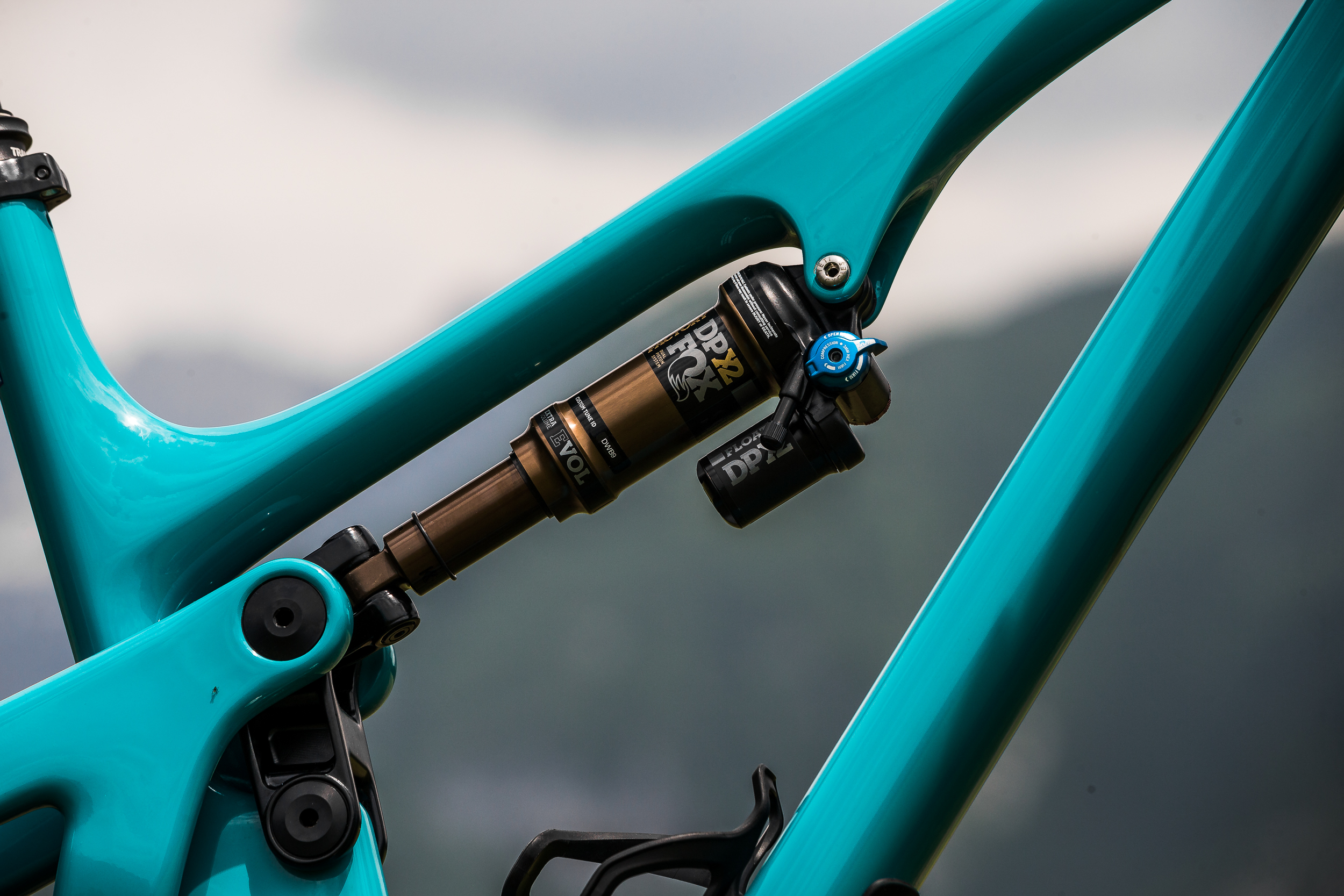 Yeti increased the suspensions leverage ratio helping maintain sensitivity in the initial part of the travel, but then ramping up at the end to prevent bottoming out on bigger hits.