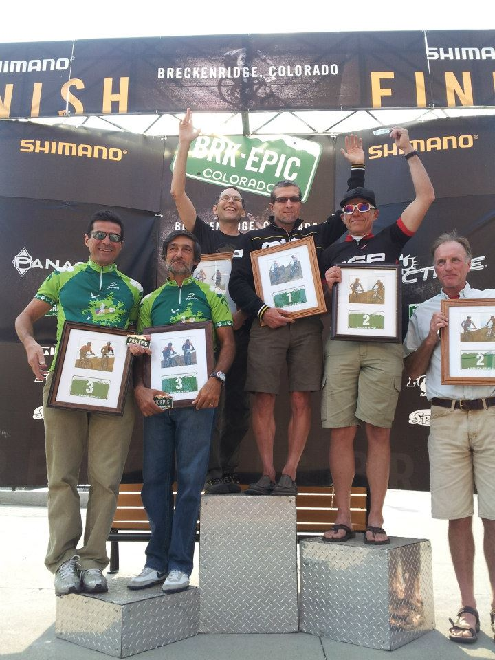 Mark Gouge on the Breck Epic podium