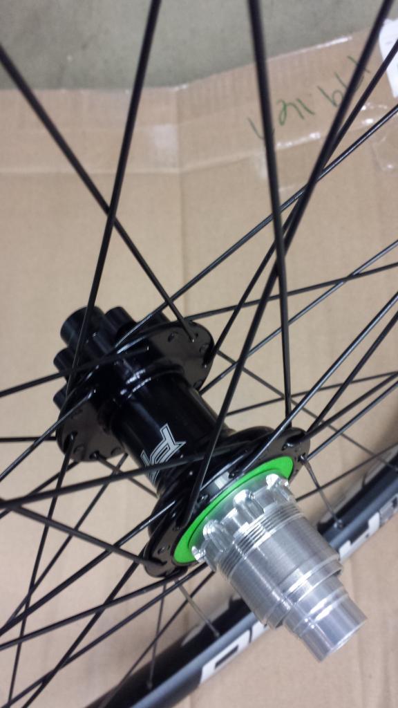 "29"" Wheelset Hope Pro 4 Spank Oozy 345 Sapim Spoke & Nipples 15x100 12x142 XD-4.jpg"