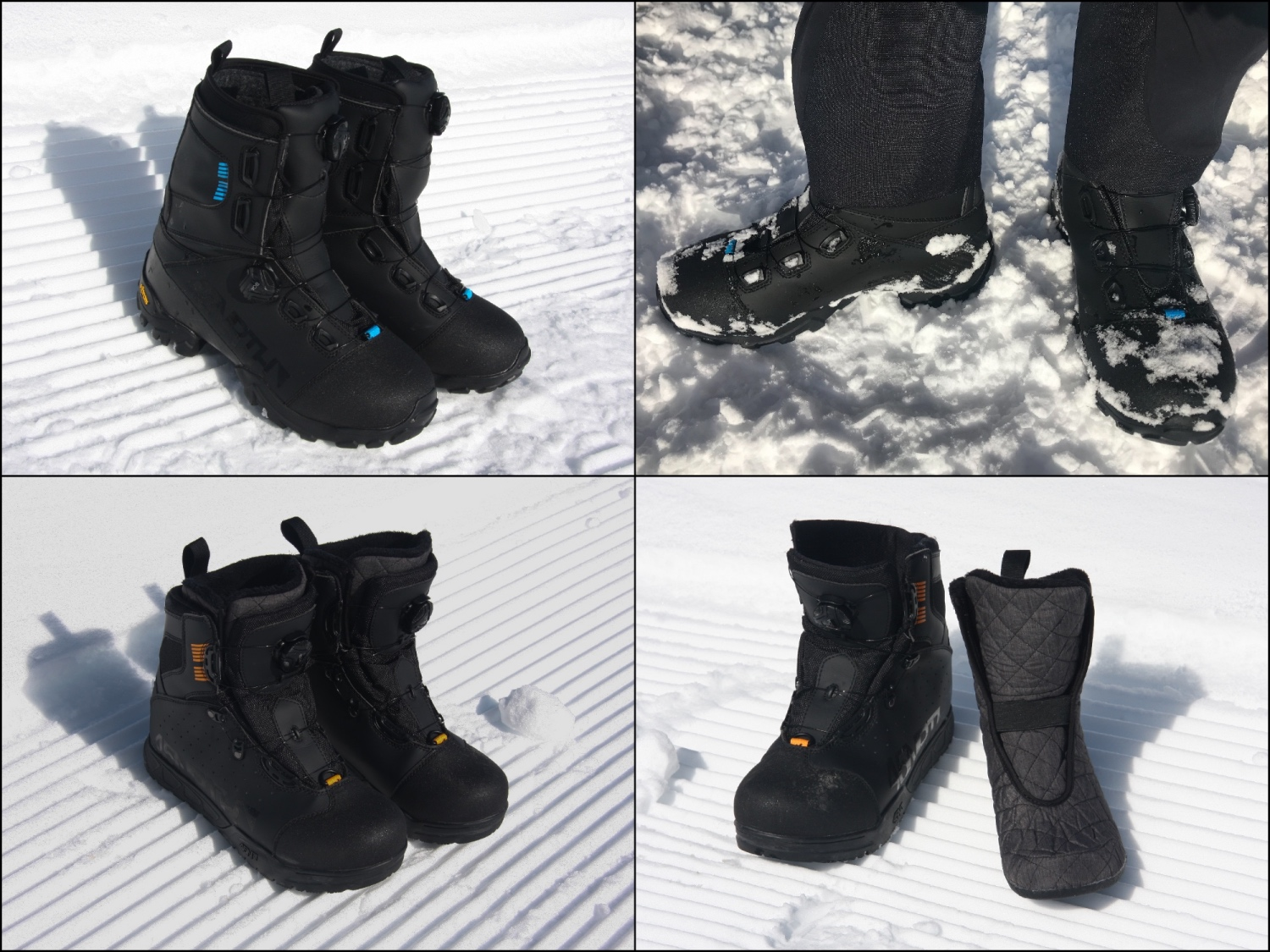 The star of the 45NRTH winter cycling line-up are their extreme cold weather boots, the Wolfgar and Wolvhammer. Photos by Jason Sumner