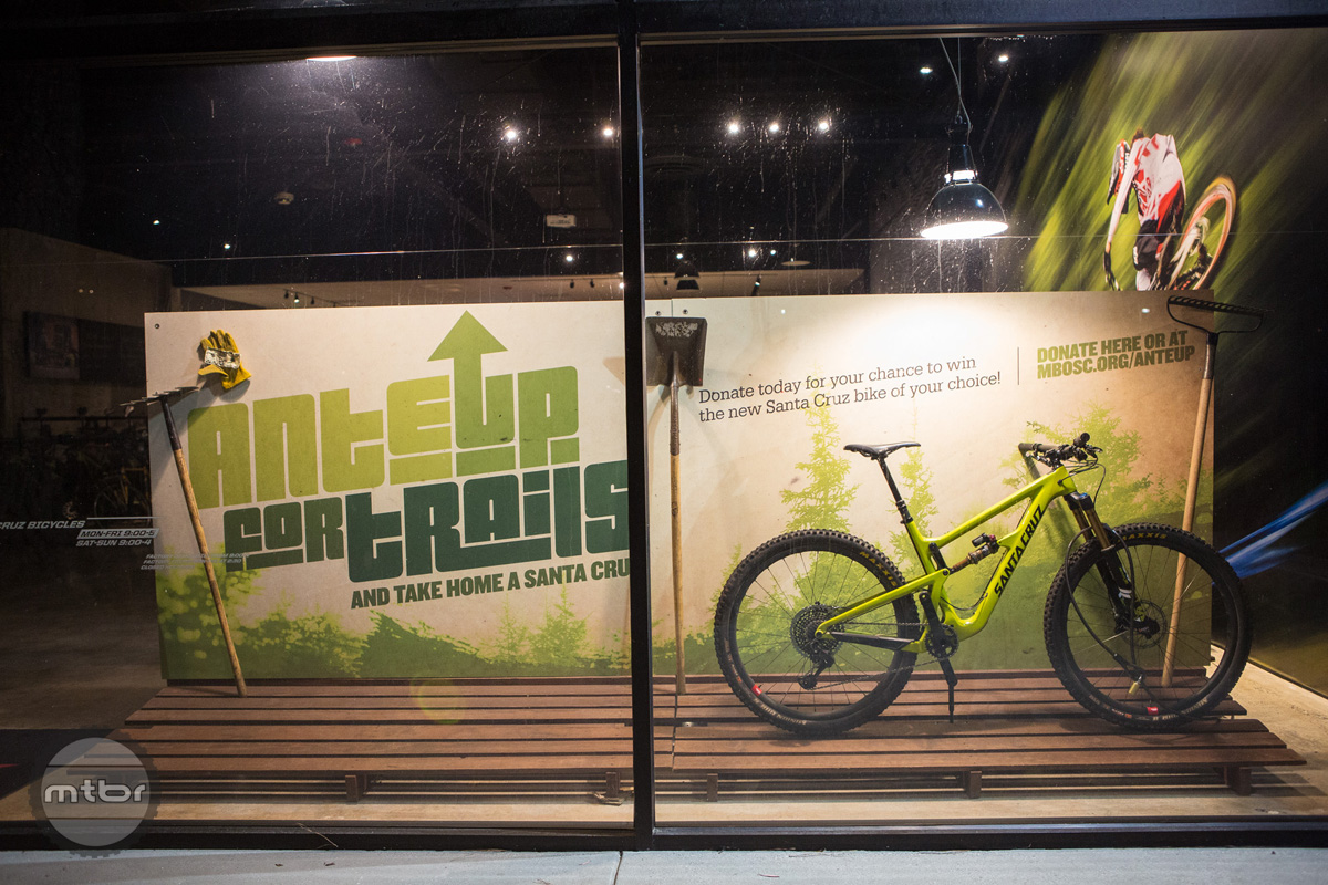 A 3D version of the Kyle Maxwell  poster was re-created by Santa Cruz Bicycles in their company headquarters showroom.