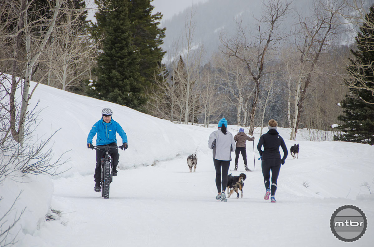 Cache Creek is an extremely convenient and popular trailhead for the Jackson residents. The Forest Service managed area allows everybody from the dog walkers to snowmobiles to enjoy this public resource. Photo by Bob Allen and Estela Villasenor