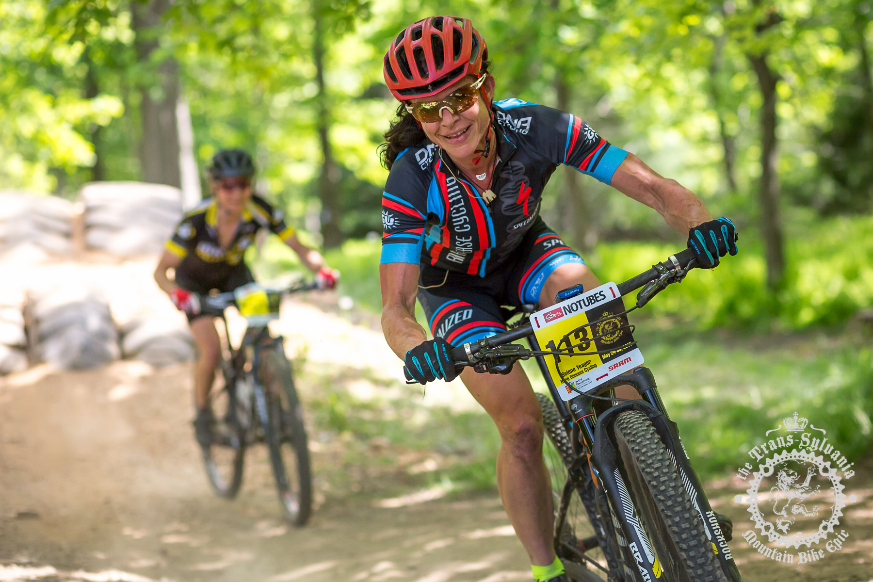 Selene Yeager (Rare Disease Cycling) isn't particularly superstitious and tries to keep her racing in perspective. Photo by Trans-Sylvania Epic Media Team
