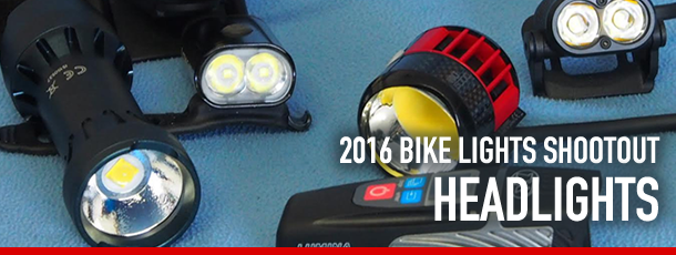 2016 Bike Lights Shootout Headlights