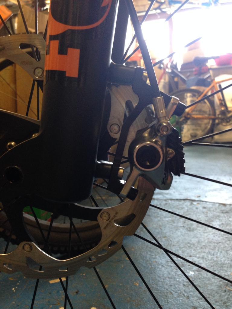 PM to Post Mount Caliper Zeno Rotor Adaptor Front 180