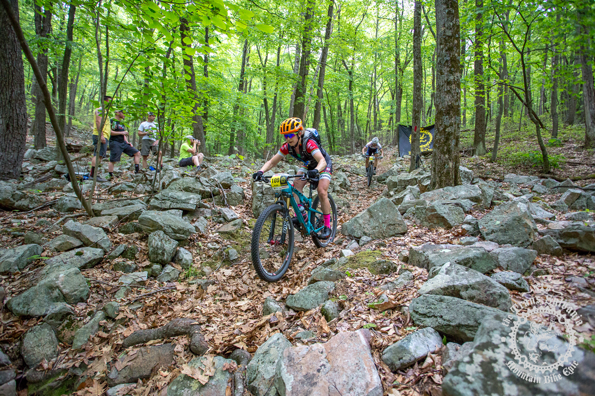 Ellen Noble (Competitive Cyclist) rides down Wildcat at the NoTubes Trans-Sylvania Epic. Photo by the Trans-Sylvania Epic Media Team