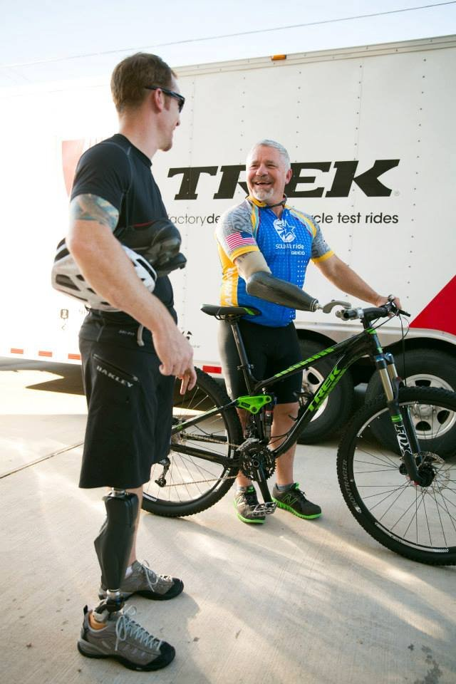 Warriors 100K Bike for Athlete with Prosthetic Arm