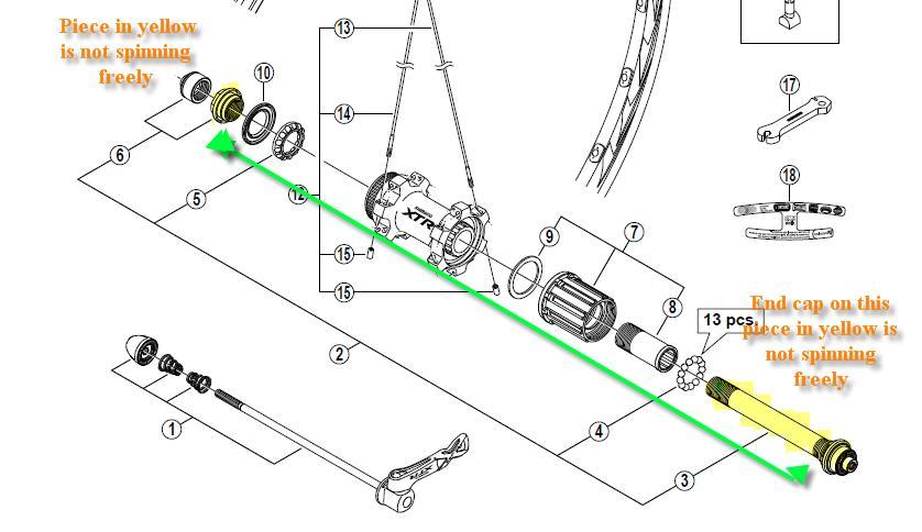 Xtr Rear Wheel Replacement Axle Need He Mtbr Com