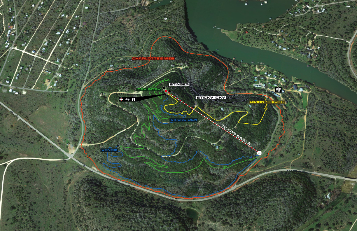 The trail builds at Spider Mountain have done a good job of maximizing the terrain and including trails for riders of all ability levels.