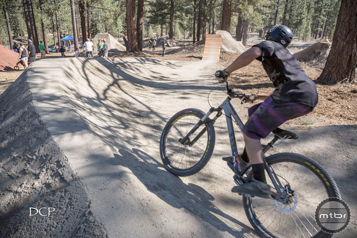 Pump tracks are very friendly across all skill levels. Photo by David Clock Photography
