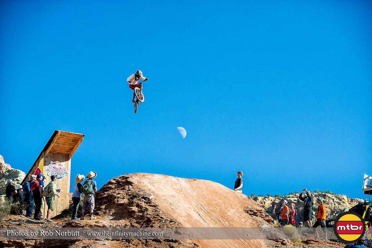 itch Chubey Jumping The Moon - Red Bull Rampage 2013 Practice - Photo by Rob Norbutt