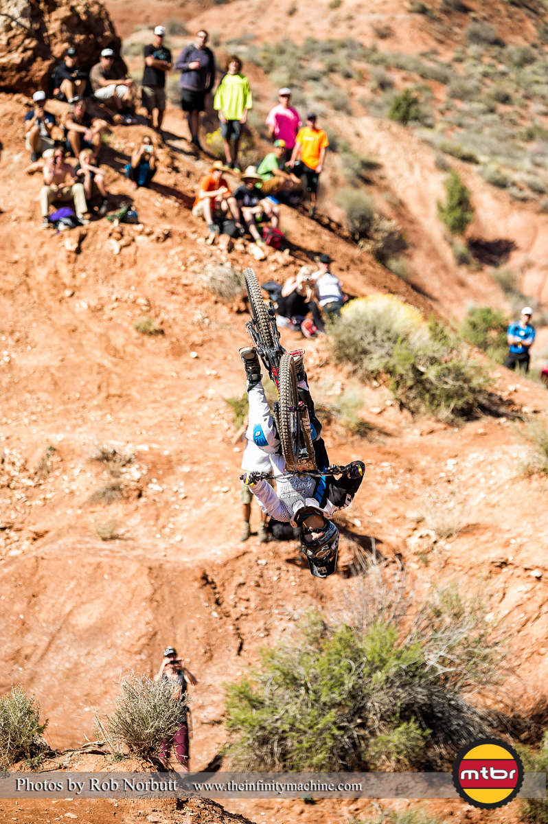 Mike Montgomery Backflip - Redbull Rampage Qualifying 2013