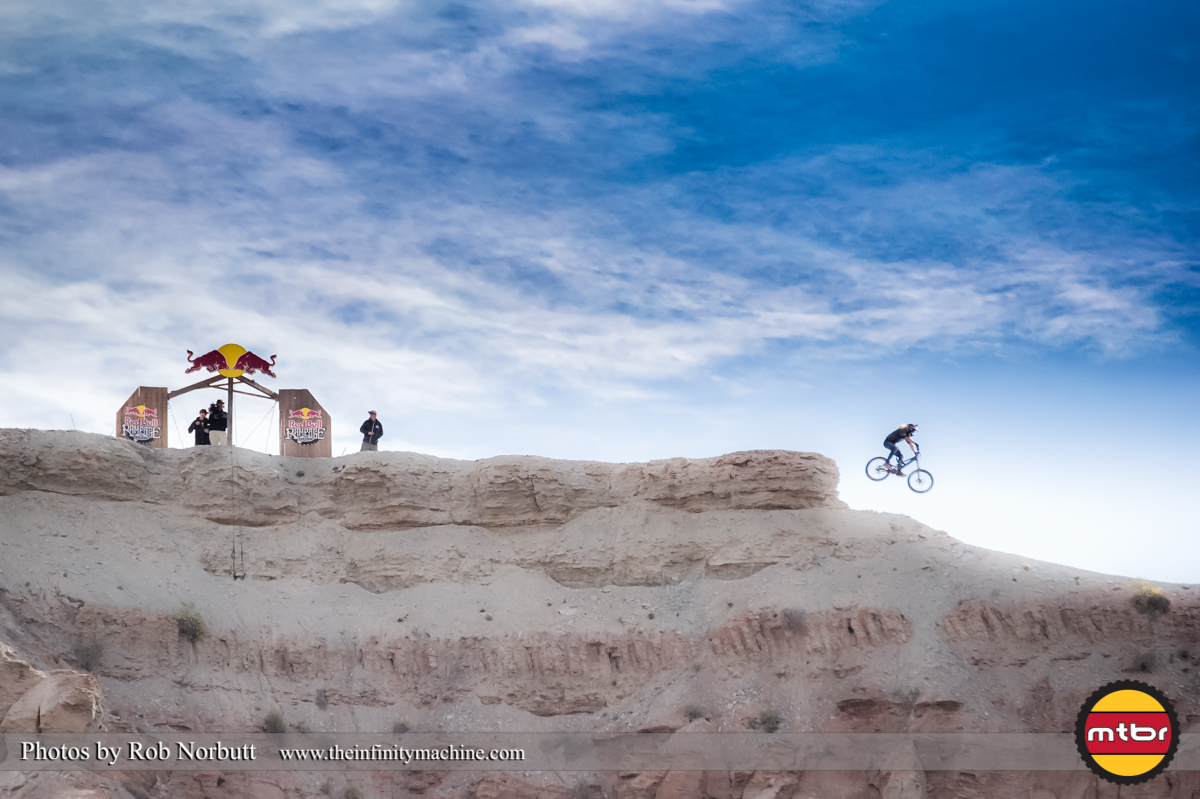 Wil White Dropping Off the Top - Redbull Rampage 2013 Finals