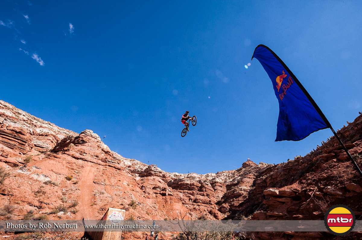 Tom Van Steenbergen Canyon Jump - Redbull Rampage Qualifying 2013