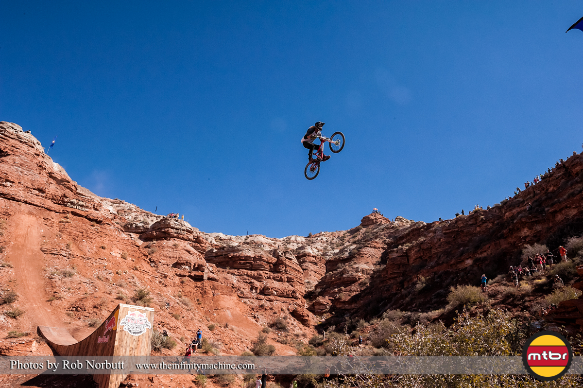 Kelly McGarry Canyon Jump - Redbull Rampage Qualifying 2013