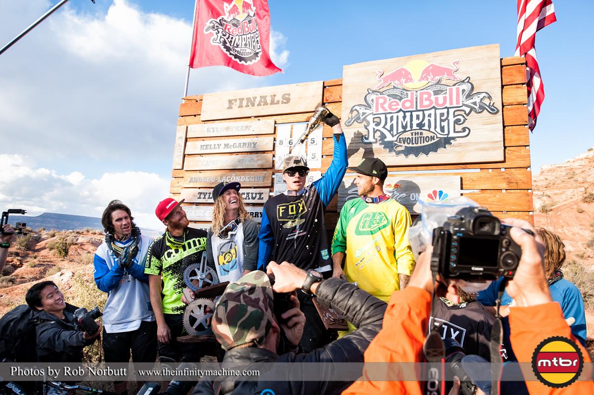 Kyle Strait - Redbull Rampage 2013 Podium