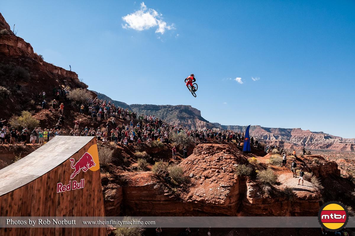 Tom Van Steenbergen Whips The Canyon - Redbull Rampage Qualifying 2013