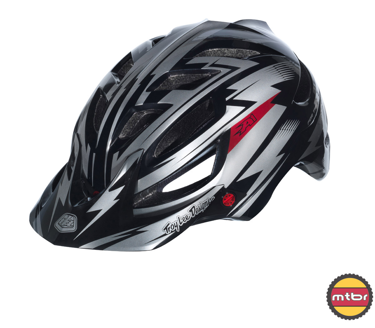 Troy Lee Designs - A1 All Mountain helmet - black left front