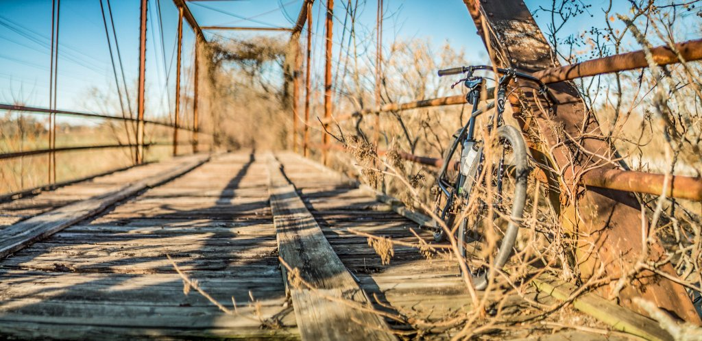 One picture, one line.  No whining. Something about YOUR last ride. [o]-abandoned_bridge.jpg