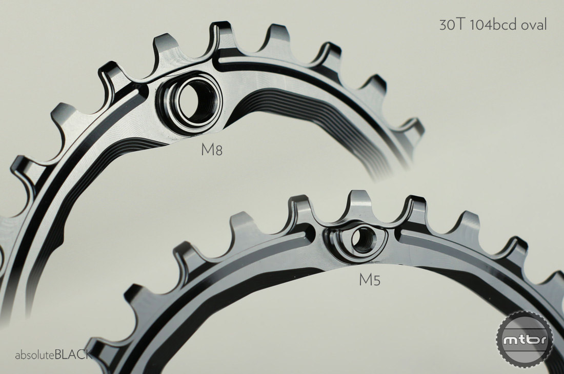 The two holes on the shallow side where space is limited use eccentric M5 threaded standoffs.