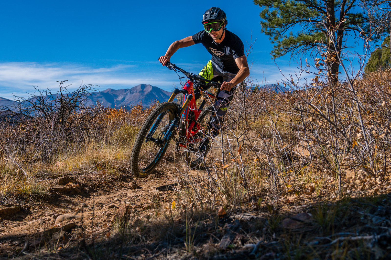 Adam Snyder is here riding in Animas Mountain in Durango, CO