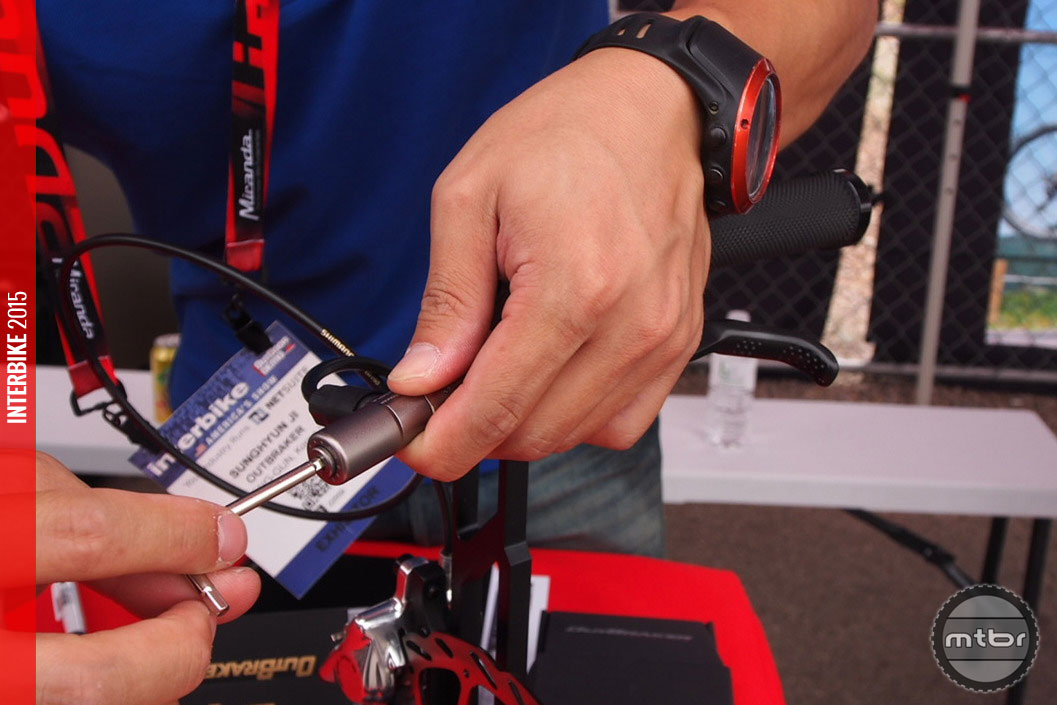Adjusting the max power of the brake is performed with a proprietary wrench.