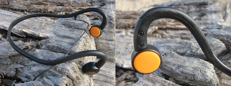 Aftershokz - headband and transducer closeup