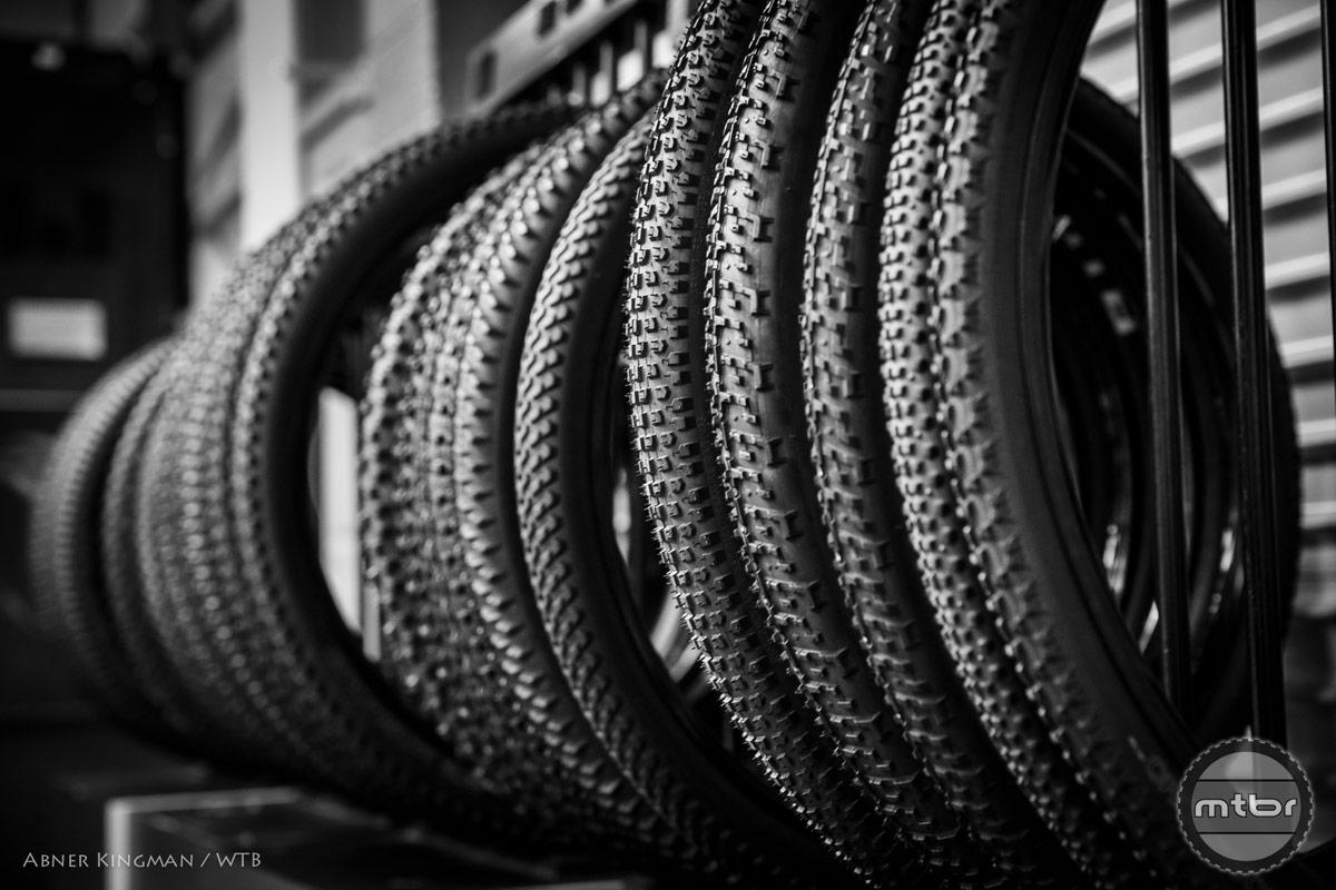 Talking about tires at the 2015 WTB Thowdown, Novato, California. Photo by Abner Kingman