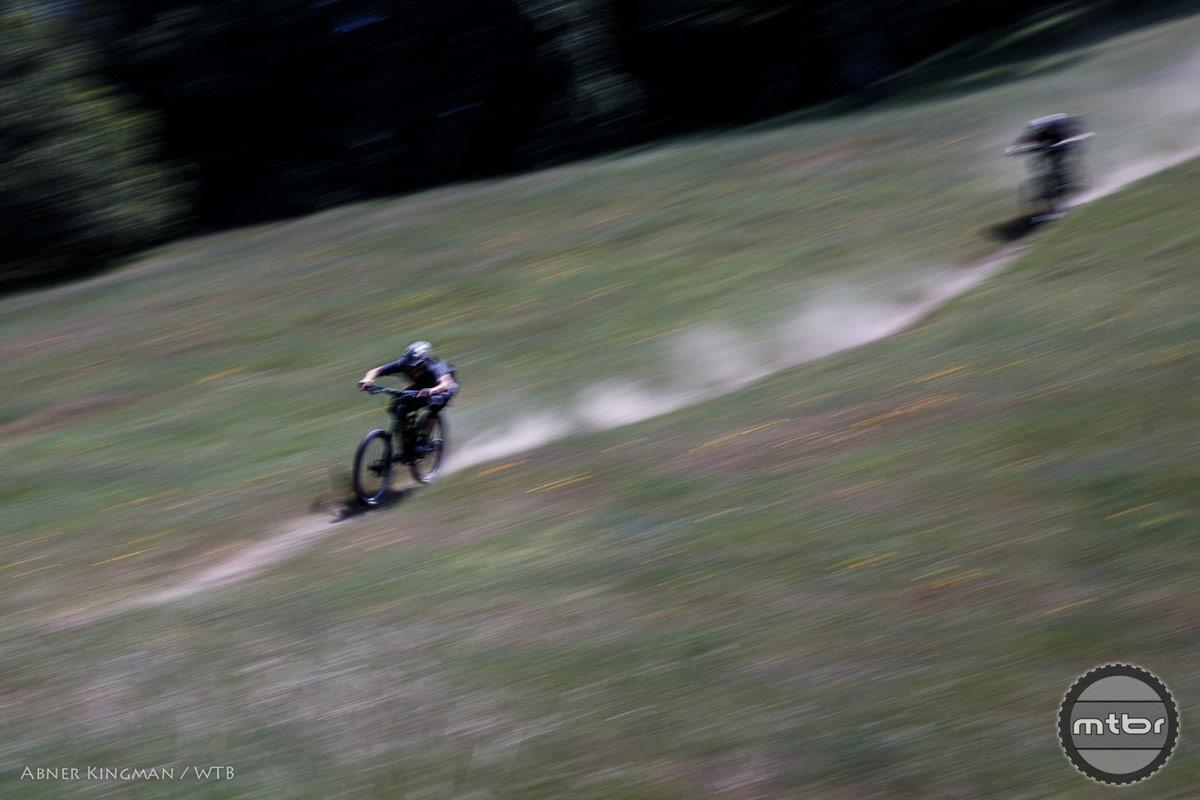 Ben Cruz, riding too fast to tell it's Ben Cruz. Photo by Abner Kingman