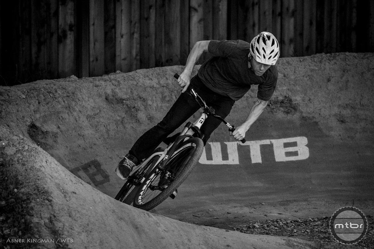 WTB Employee Alex Hodson getting some at Weir's pump track. Photo by Abner Kingman