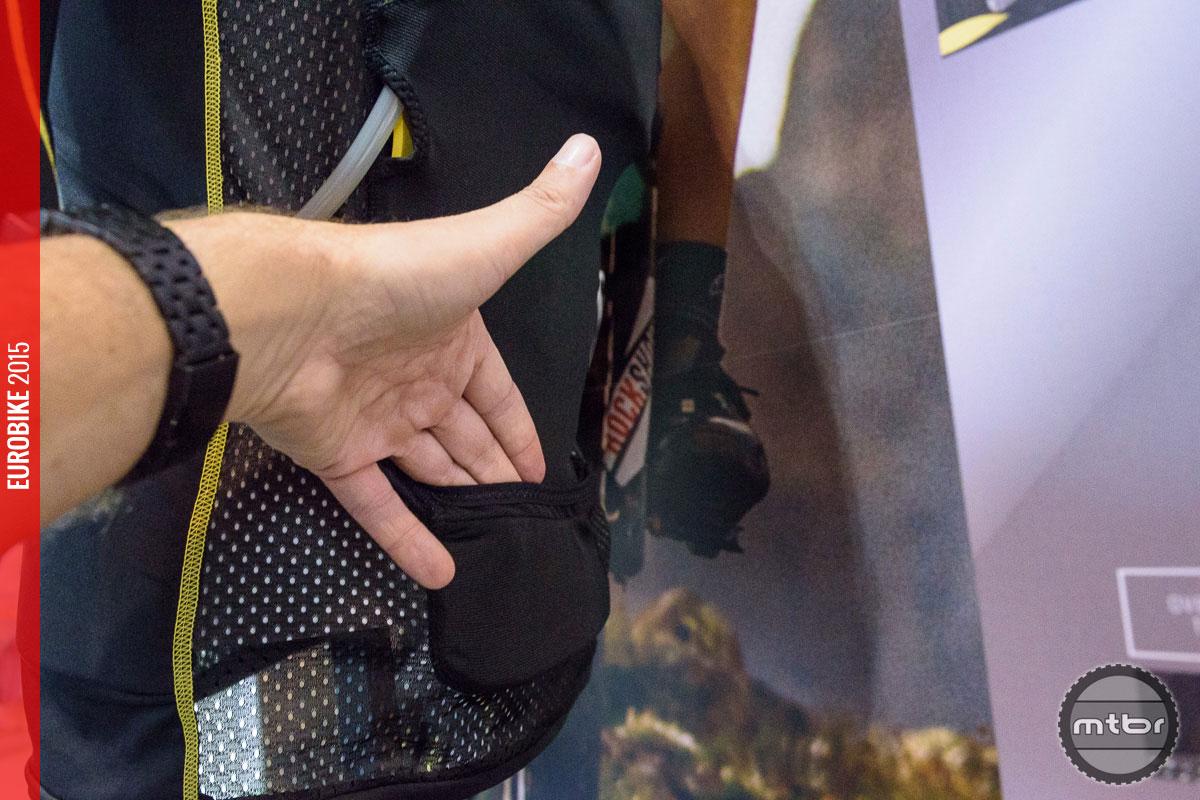 The back pocket has a zipper.