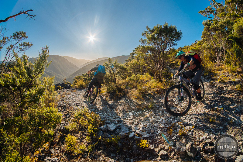 The routes that Anka and Sven create take travelers deep into the New Zealand backcountry to explore the beautiful countryside AND sample some of the world's best riding. Photo by Duncan Philpott