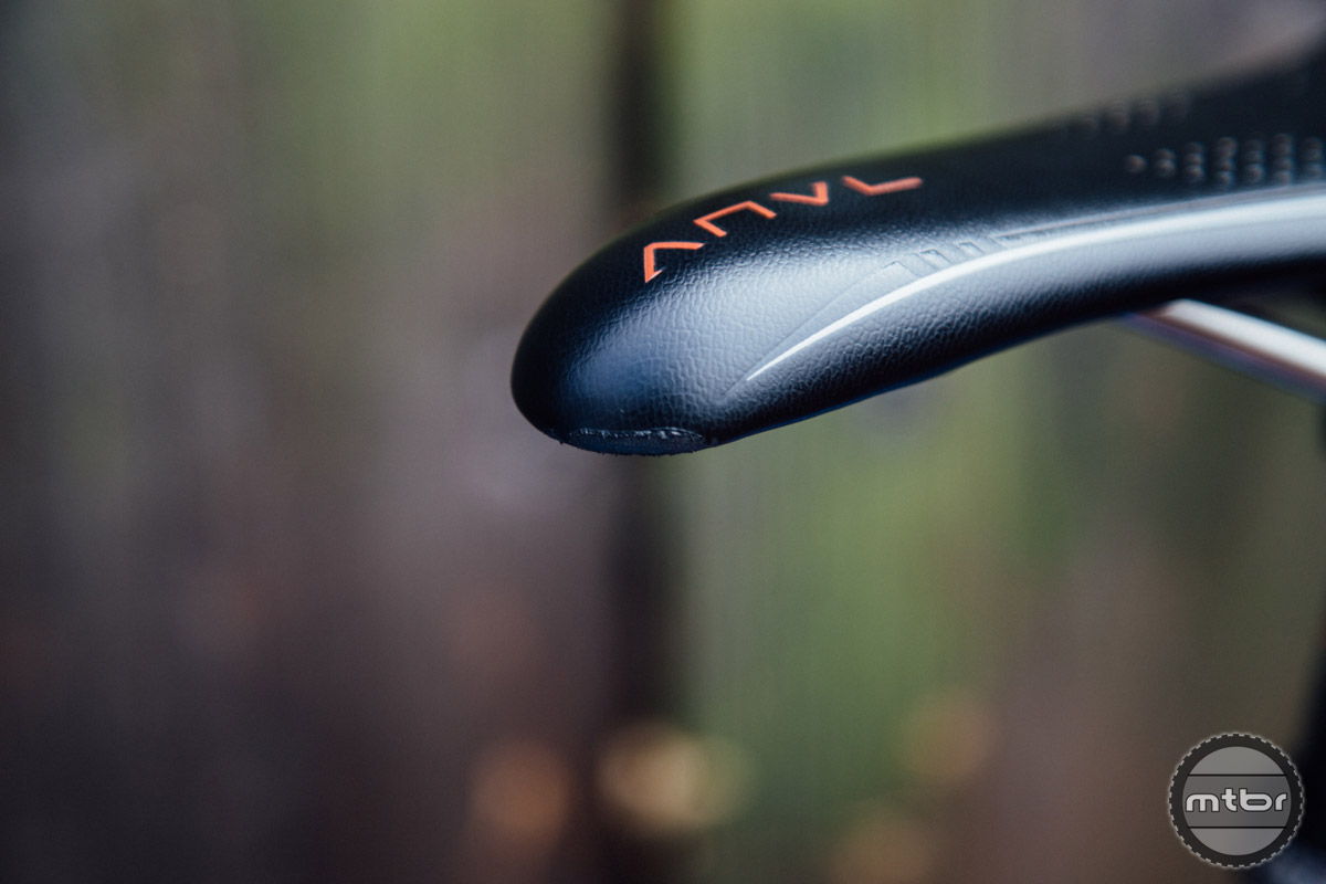 The only wear and tear visible on the saddle after a year of abuse is on the nose, where the leather is visibly scuffed.