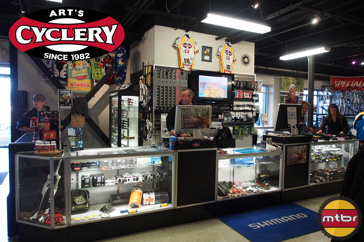 Art's Cyclery - front counter main check-out