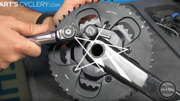 Properly tightening your bolts in a specific pattern ensures that there is a uniform distribution of load across the part's surface. Photo courtesy of Art's Cyclery