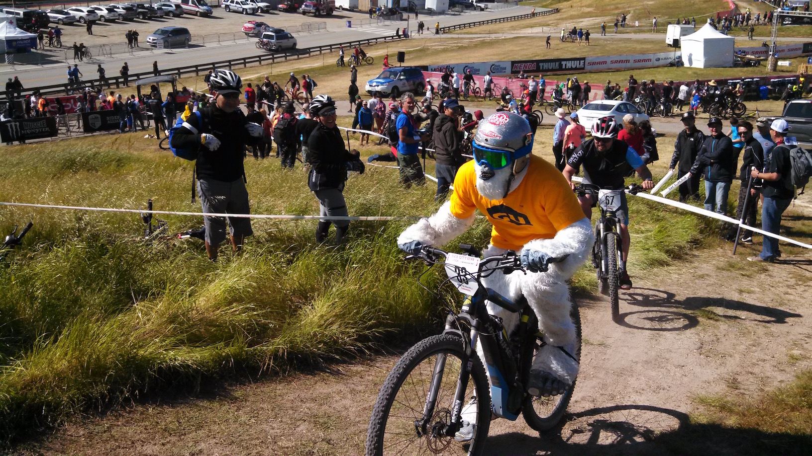 A yeti was spotted riding a MORB at Sea Otter.