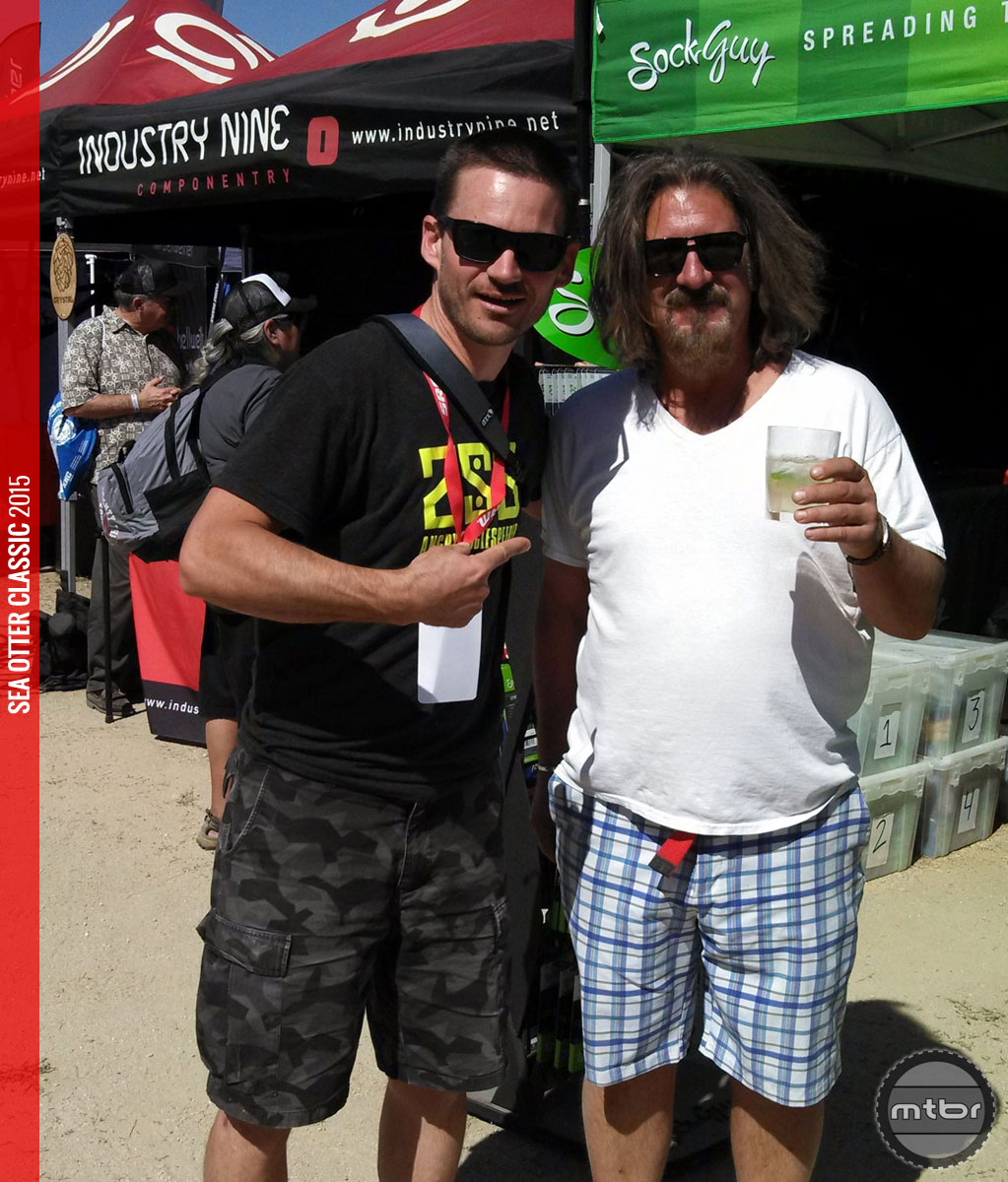 Even The Dude loves hanging at Sea Otter even if he is holding the wrong beverage.