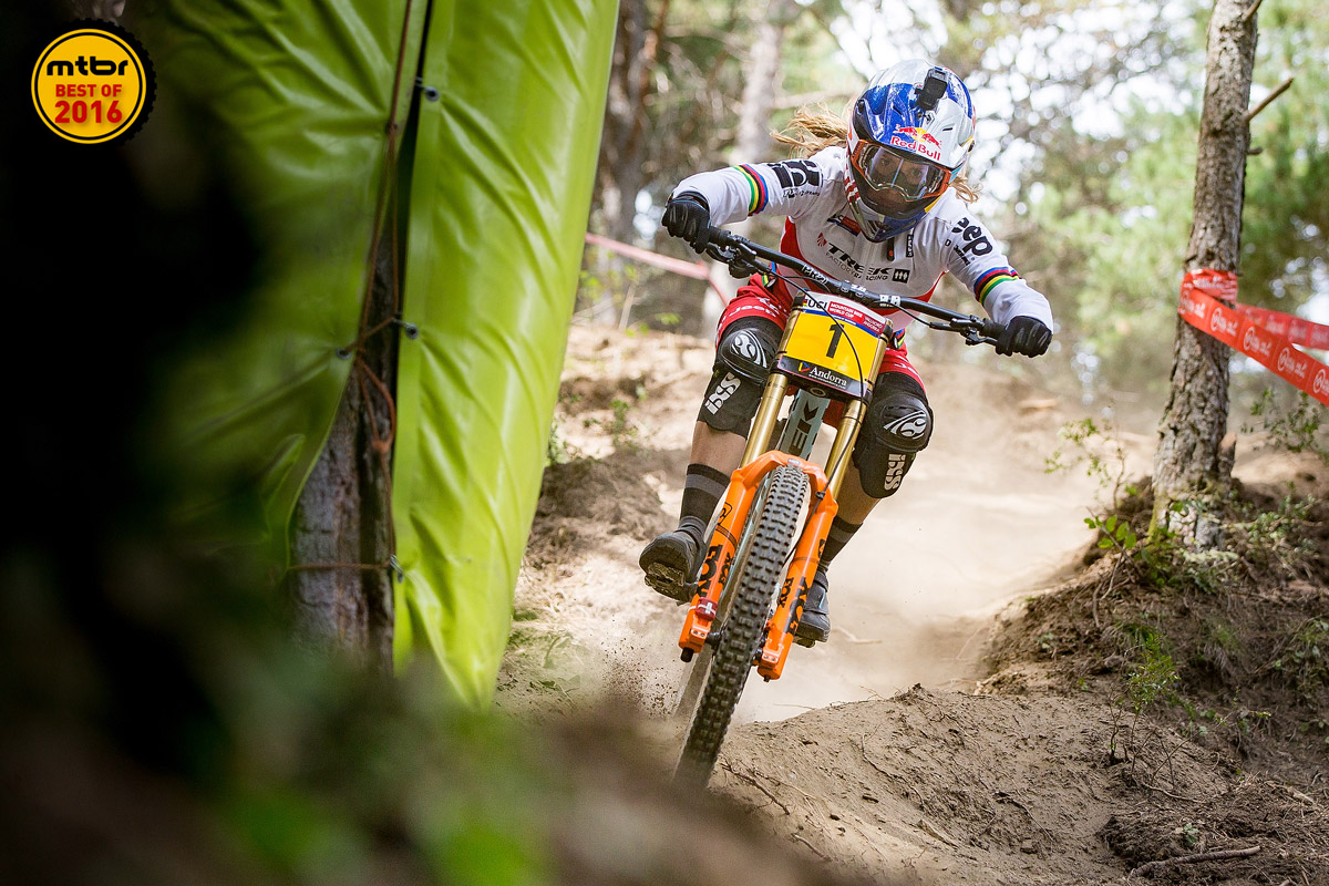 Atherton has won an astounding 13 straight World Cup races and two straight World Championship crowns.
