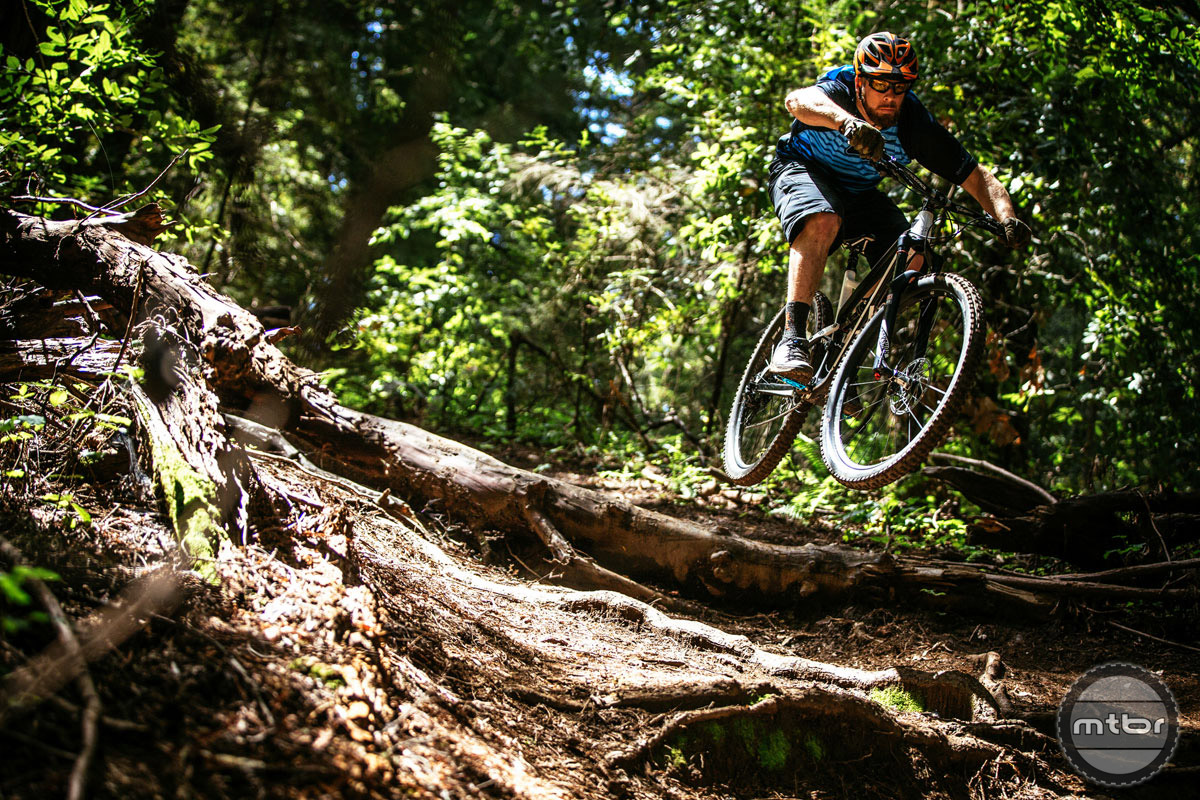 Launching into a fun root section. Photo by Ale Di Lullo