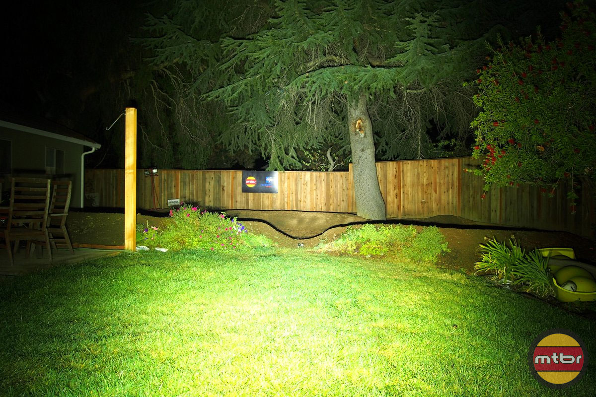 Trail Led Halo Backyard Beam Pattern